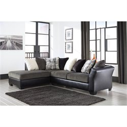 Ashley Armant Left Chaise Sectional in Ebony