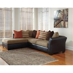 Ashley Armant Left Facing 2 Piece Sectional in Mocha