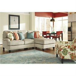 Ashley Kerridon 3 Piece Fabric Right Chaise Sofa Set in Putty