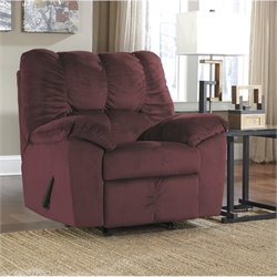 Ashley Julson Fabric Rocker Recliner in Burgundy