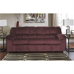Ashley Furniture Julson Fabric Sofa in Burgundy