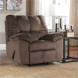 Ashley Julson Fabric Rocker Recliner in Cafe