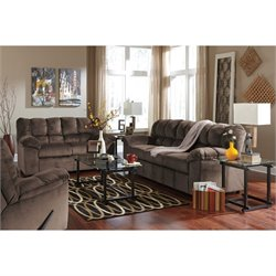 Ashley Julson 3 Piece Fabric Sofa Set in Cafe