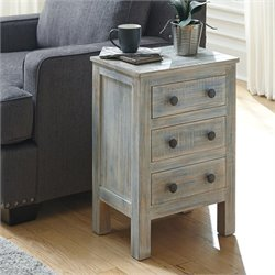 Charlowe 3 Drawer Wood Nightstand
