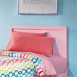 Ashley Bronett Wood Twin Panel Headboard in Pink
