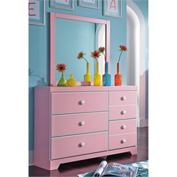 Ashley Bronett 2 Piece Wood Dresser Set in Pink