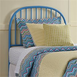 Ashley Bronilly Metal Twin Rail Headboard in Blue