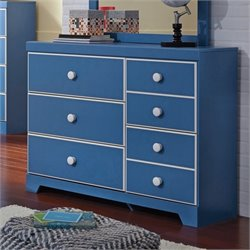 Ashley Bronilly 5 Drawer Wood Dresser in Blue