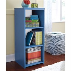 Ashley Bronilly 3 Shelf Wood Bookcase in Blue