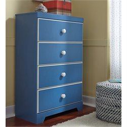 Ashley Bronilly 4 Drawer Wood Chest in Blue