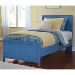 Ashley Bronilly Wood Twin Panel Bed in Blue