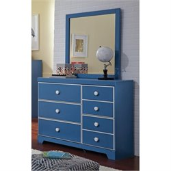 Ashley Bronilly 2 Piece Wood Dresser Set in Blue