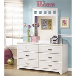 Ashley Lulu 2 Piece Wood Dresser Set in White