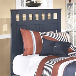 Ashley Leo Wood Twin Panel Headboard in Blue