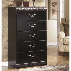 Ashley Constellations 5 Drawer Wood Chest in Black