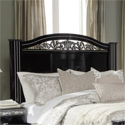 Ashley Constellations Wood Poster Panel Headboard in Black