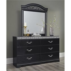 Ashley Constellations 2 Piece Wood Dresser Set in Black