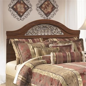 Ashley Fairbrooks Estates Wood Full Queen Panel Headboard in Brown