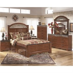 Ashley Fairbrooks Estates 6 Piece Bedroom Set in Brown