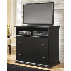 Ashley Maribel 2 Drawer Wood Media Chest in Black