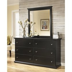 Ashley Maribel 2 Piece Wood Dresser Set in Black