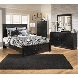Ashley Maribel 5 Piece Wood Queen Panel Storage Bedroom Set
