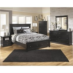 Ashley Maribel Wood Queen Panel Storage Bedroom Set