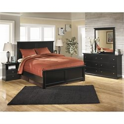 Ashley Maribel 5 Piece Wood Panel Bedroom Set in Black
