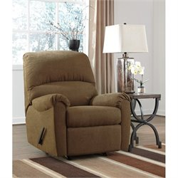 Ashley Zeth Fabric Rocker Recliner in Basil