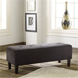 Ashley Sinko Fabric Oversized Accent Ottoman in Charcoal