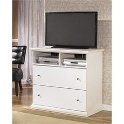 Ashley Bostwick Shoals 2 Drawer Wood Media Chest in White