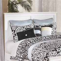 Ashley Bostwick Shoals Wood Full Queen Panel Headboard in White