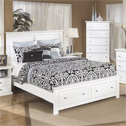 Ashley Bostwick Shoals Wood Queen Storage Panel Bed in White
