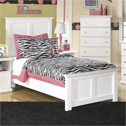 Ashley Bostwick Shoals Wood Twin Panel Bed in White