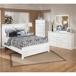 Ashley Bostwick Shoals 5 Piece Wood Queen Storage Bedroom Set in White