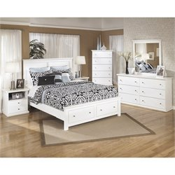 Ashley Bostwick Shoals 6 Piece Wood Queen Storage Bedroom Set in White
