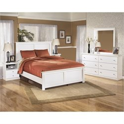 Ashley Bostwick Shoals 5 Piece Wood Queen Panel Bedroom Set in White