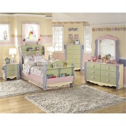 Ashley Doll House 6 Piece Wood Twin Sleigh Bedroom Set