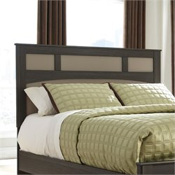 Ashley Wellatown Wood Full Queen Panel Headboard in Brown