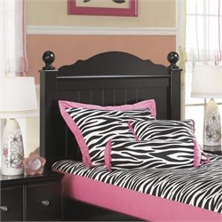 Ashley Jaidyn Wood Twin Poster Panel Headboard in Black