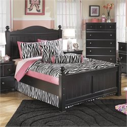 Ashley Jaidyn Wood Full Poster Panel Bed in Black