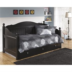 Ashley Jaidyn Wood Daybed with Trundle in Black