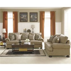 Ashley Keereel 2 Piece Fabric Sofa Set in Sand