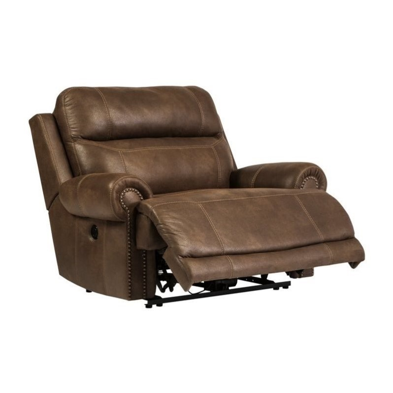 Ashley Austere Faux Leather Power Zero Wall Wide Recliner