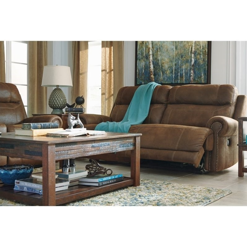 Ashley Furniture Austere Power Reclining Console Loveseat