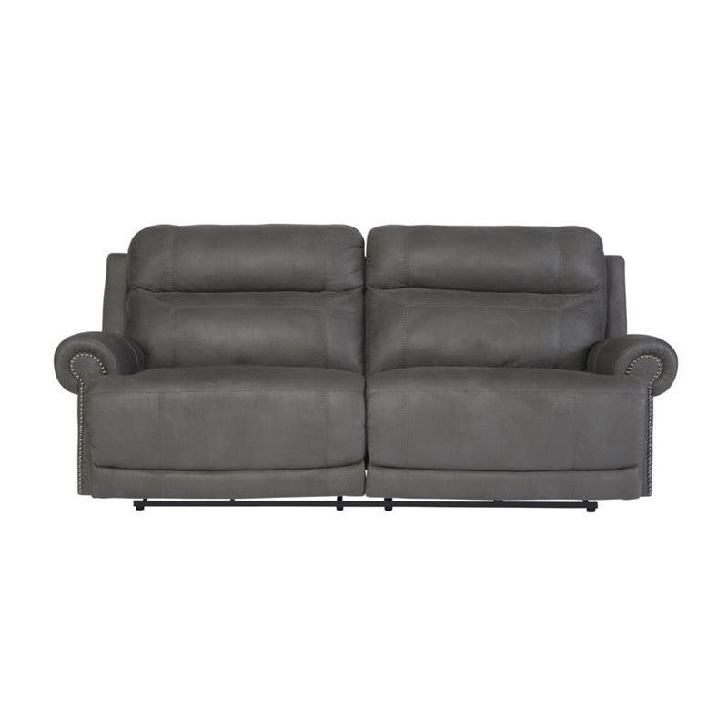 Ashley Furniture Austere 2 Seat Reclining Power Sofa in Gray