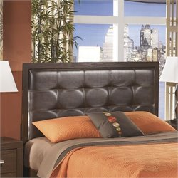 Ashley Aleydis Upholstered Full Queen Panel Headboard in Brown