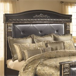 Ashley Coal Creek Upholstered King Panel Headboard in Dark Brown