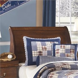 Ashley Wilmington Wood Twin Sleigh Headboard in Brown
