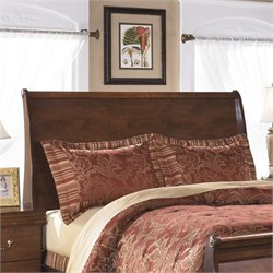 Ashley Wilmington Wood Queen Sleigh Headboard in Brown